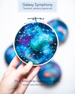 Galaxy Symphony no. 4 Wool Felted Original Art - 4 inch hoop