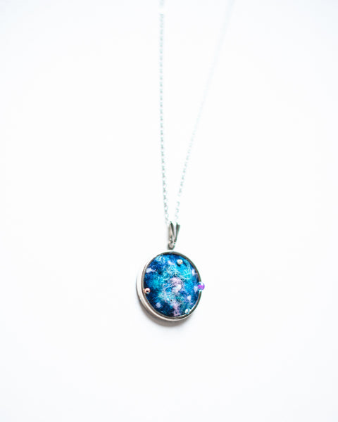 Galaxy Jewelry Necklace - Silver - Personalized Embroidered Initial