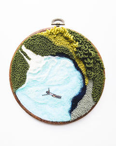 Mini Lagoon No. 27 Original Art - 6 in. hoop