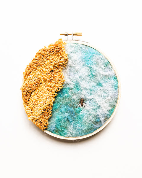 "Embroidery Art - ""Japanese Onsen"" - 5 inch hoops"