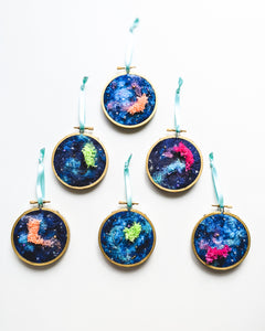 "Christmas Ornament - ""Galaxy Sky"" - 3 inch hoops"
