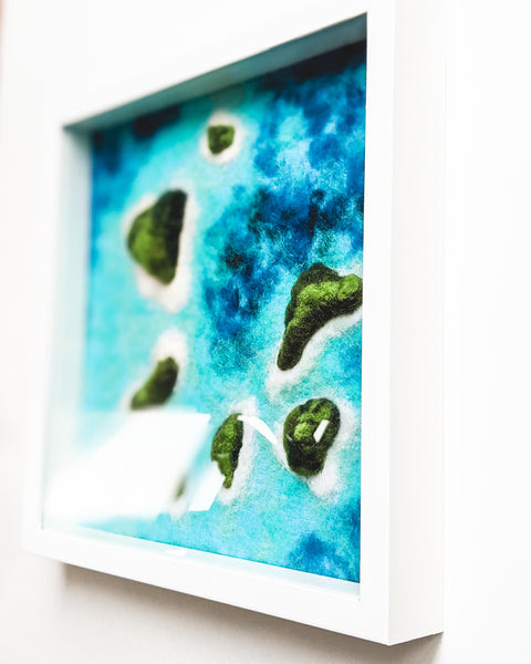 "Original Fiber Art - ""Islands and Lagoons no. 3"""