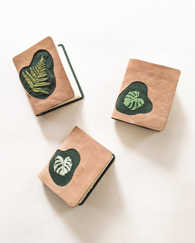Mini Embroidered Leather Journals