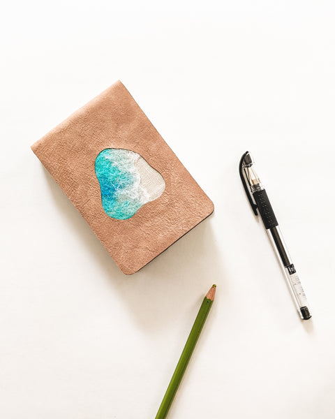 Pocket Embroidered Leather Journals