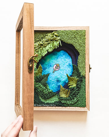 Lagoon no. 16 - Original 3D Fiber Art