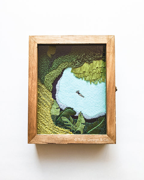 Lagoon no. 17 - Original Fiber Art