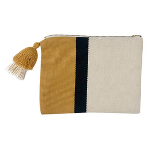 Handloom Stripe Cosmetic Bag