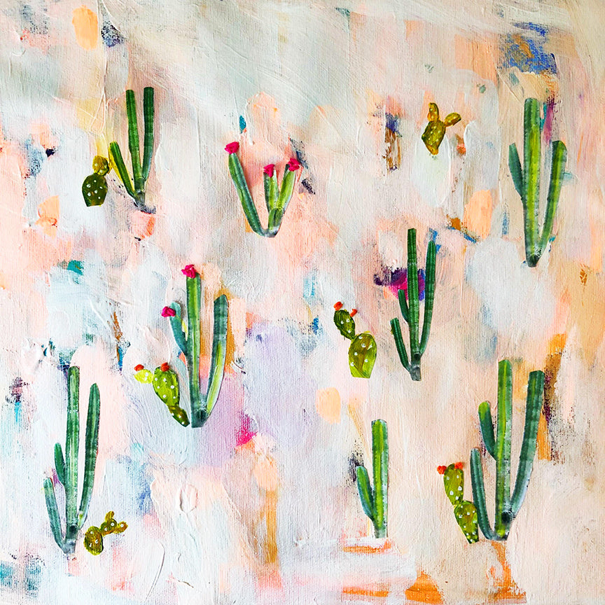 cactus land painting
