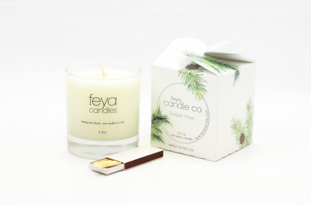 forest pine candle