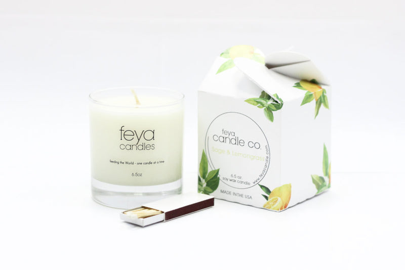 sage and lemongrass candle