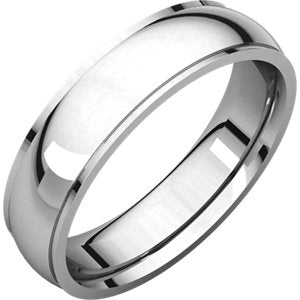 14K White 5mm Comfort Fit Edge Band