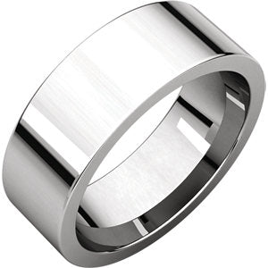 Sterling Silver 7mm Flat Comfort-Fit Band