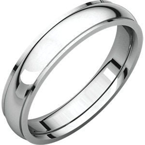 Sterling Silver 4mm Comfort Fit Edge Band