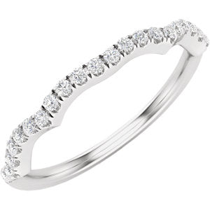 14K White 1/6 CTW Diamond Matching Band