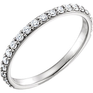 14K White 3/8 CTW Diamond Band