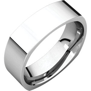 14K White 5mm Square Comfort Fit Band