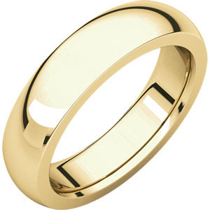 14K Yellow 5mm Heavyweight Comfort Fit Band