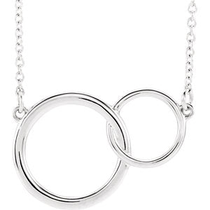 Platinum Interlocking Circle Necklace