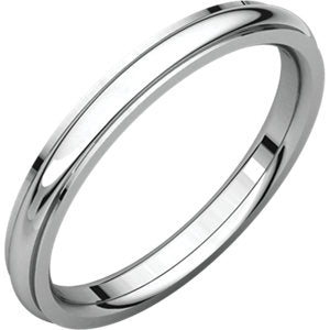 14K White 2.5mm Comfort Fit Edge Band