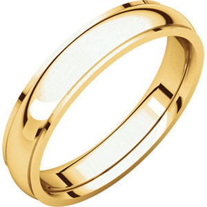 14K Yellow 4mm Comfort Fit Edge Band