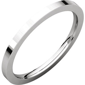 Sterling Silver 1.5mm Flat Comfort Fit Band