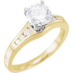 14K Yellow 1/5 CTW Diamond Band