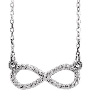 14K White Rope Infinity-Inspired Necklace