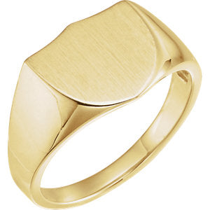 14K Yellow Signet Ring
