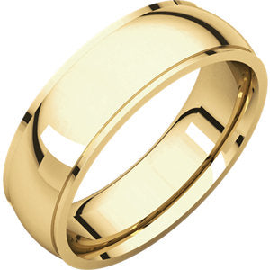14K Yellow 6mm Comfort Fit Edge Band