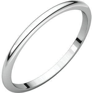 Sterling Silver 1.5mm Half Round Band