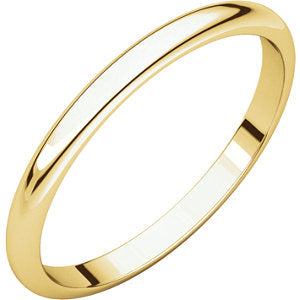 14K Yellow 1.5mm Half Round Band