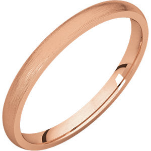 14K Rose 1.5mm Lightweight Comfort Fit Band