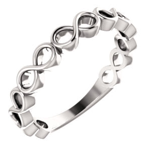 Platinum Infinity-Inspired Stackable Ring
