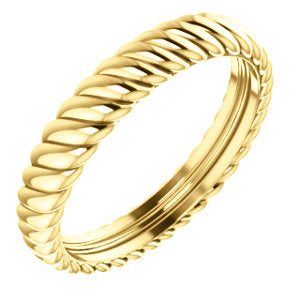 14K Yellow 3.75mm Thick Rope Band Size 7