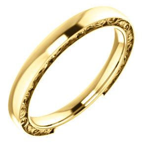 14K Yellow 2.5mm Design Band