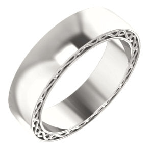 Sterling Silver 6mm Infinity-Inspired Band Size 10