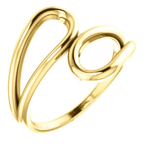 14K Yellow Double Loop Ring