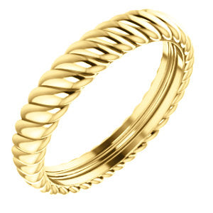 14K Yellow 3.75mm Thick Rope Band Size 6