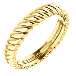 14K Yellow 3.75mm Thick Rope Band Size 5.5