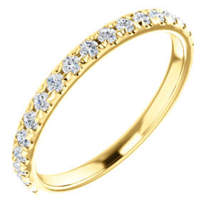 14K Yellow 3/8 CTW Diamond Matching Band