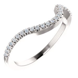 Platinum 1/8 CTW Diamond Matching Band