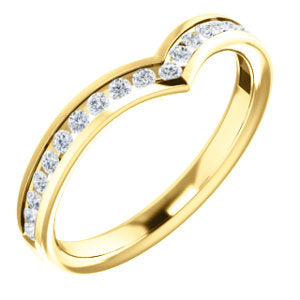 14K Yellow 1/4 CTW Diamond Contour Band