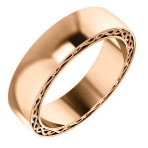 14K Rose 6mm Infinity-Inspired Band Size 10
