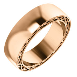 14K Rose 6mm Infinity-Inspired Band Size 7