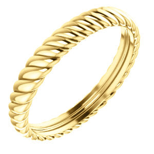 14K Yellow 3.75mm Thick Rope Band Size 11