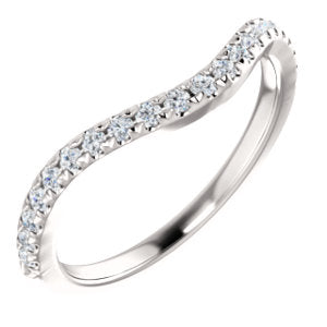 14K White 1/3 CTW Diamond French-Set Matching Band
