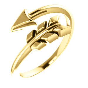 14K Yellow Arrow Ring