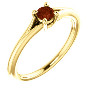 14K Yellow Garnet Youth Ring