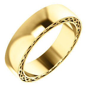 14K Yellow 6mm Infinity-Inspired Band Size 10.5