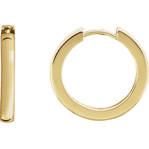 14K Yellow 18x2.7mm Hinged Hoop Earrings